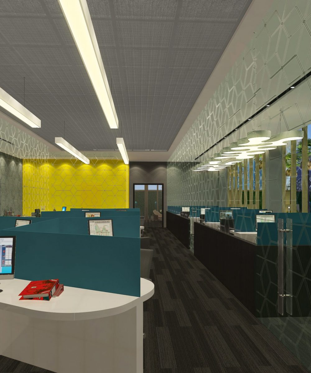 Office & Commercial Spaces - Office space design with cabins shown - Best Architecture Consultants in Delhi NCR